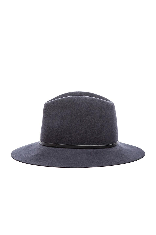 Image 4 of Janessa Leone Michelle Wool Felt Hat in Gunmetal