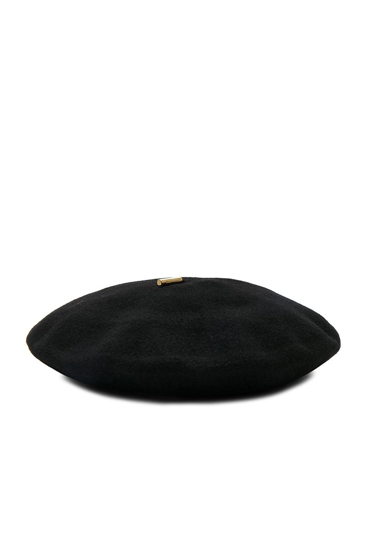 Image 1 of Janessa Leone Renee Beret Hat in Black