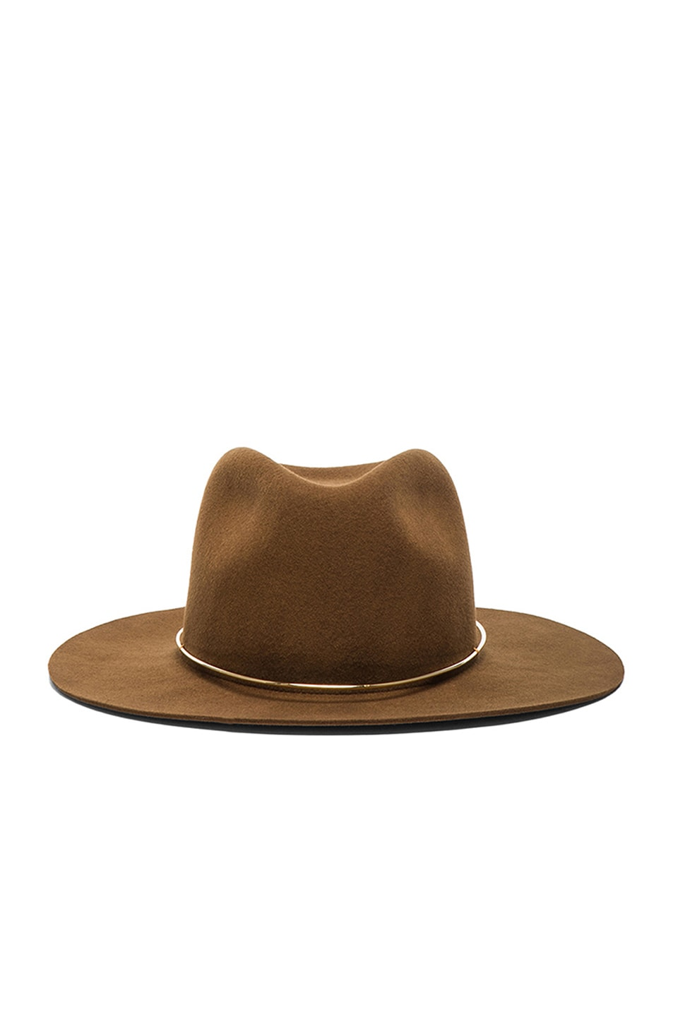 Image 1 of Janessa Leone Savoy Hat in Whisky