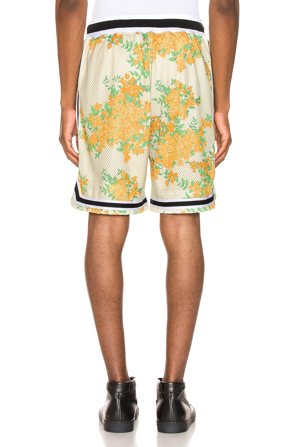 Image 3 of JOHN ELLIOTT Basketball Shorts in Ivory Bougainvillea
