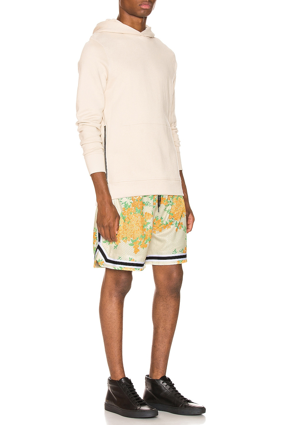Image 4 of JOHN ELLIOTT Basketball Shorts in Ivory Bougainvillea
