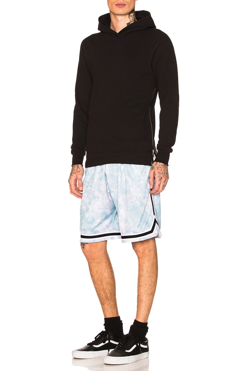 Image 5 of JOHN ELLIOTT Tie Dye Basketball Shorts in Blue & Purple