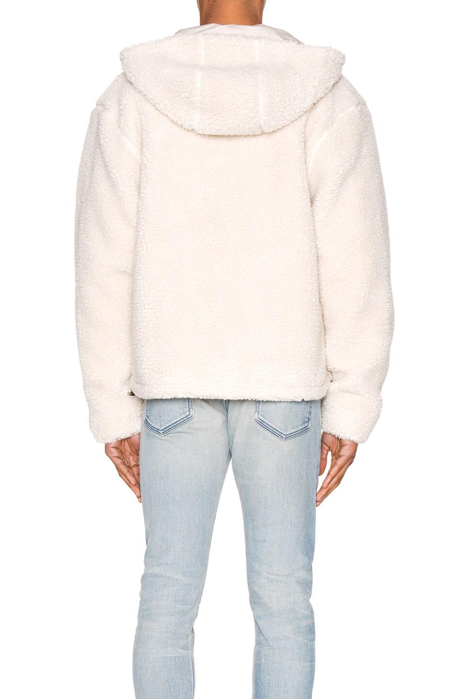 Image 4 of JOHN ELLIOTT Boulder Polar Fleece Zip Hoodie in Ivory