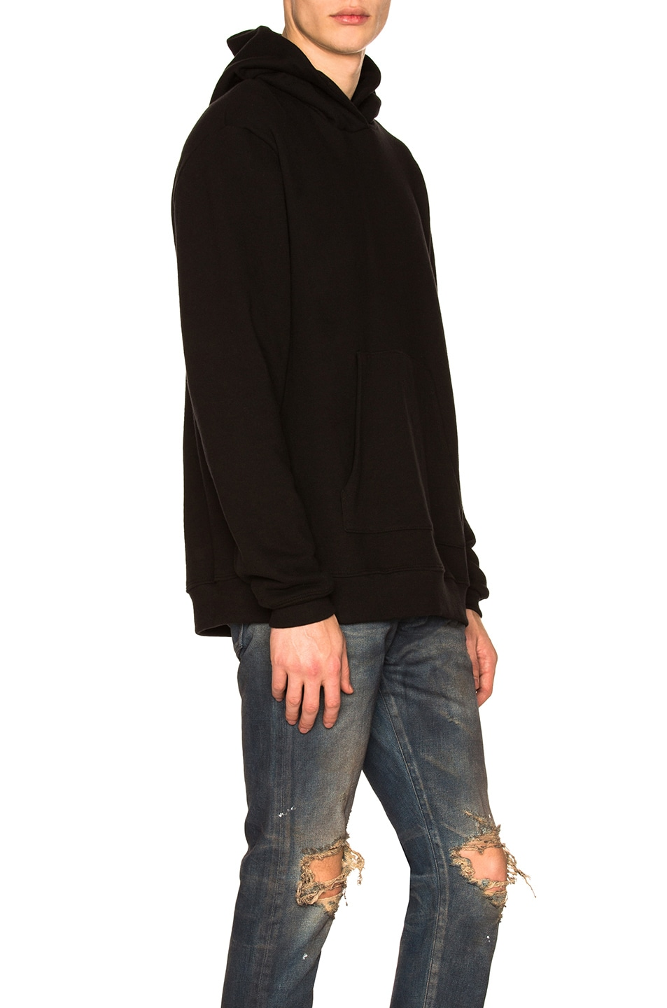 Image 2 of JOHN ELLIOTT Oversized Cropped Hoodie in Black