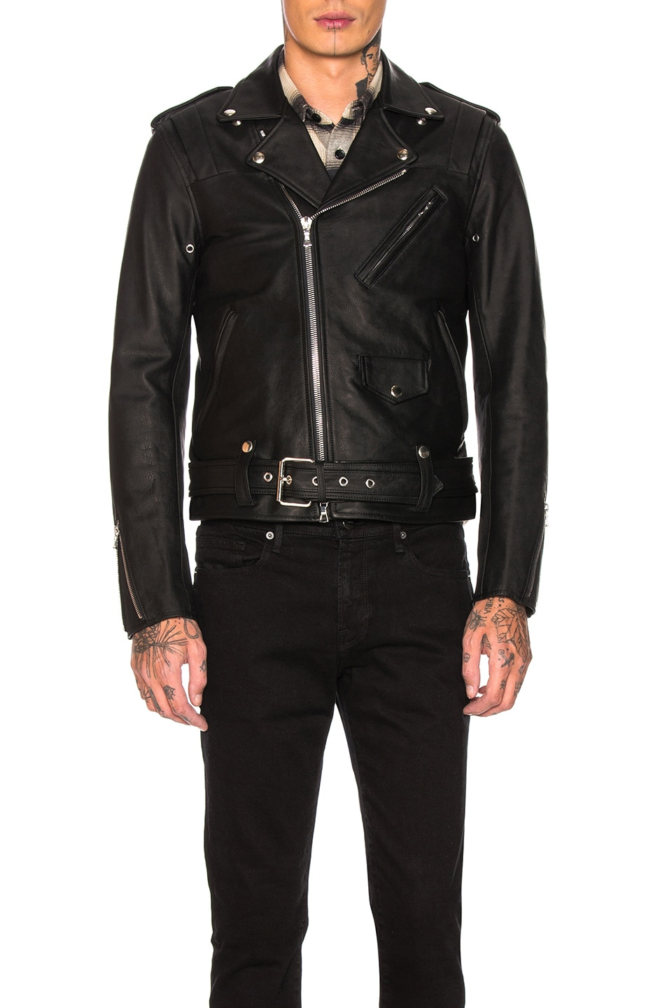 Image 2 of JOHN ELLIOTT Blackmeans Rider's Jacket in Black