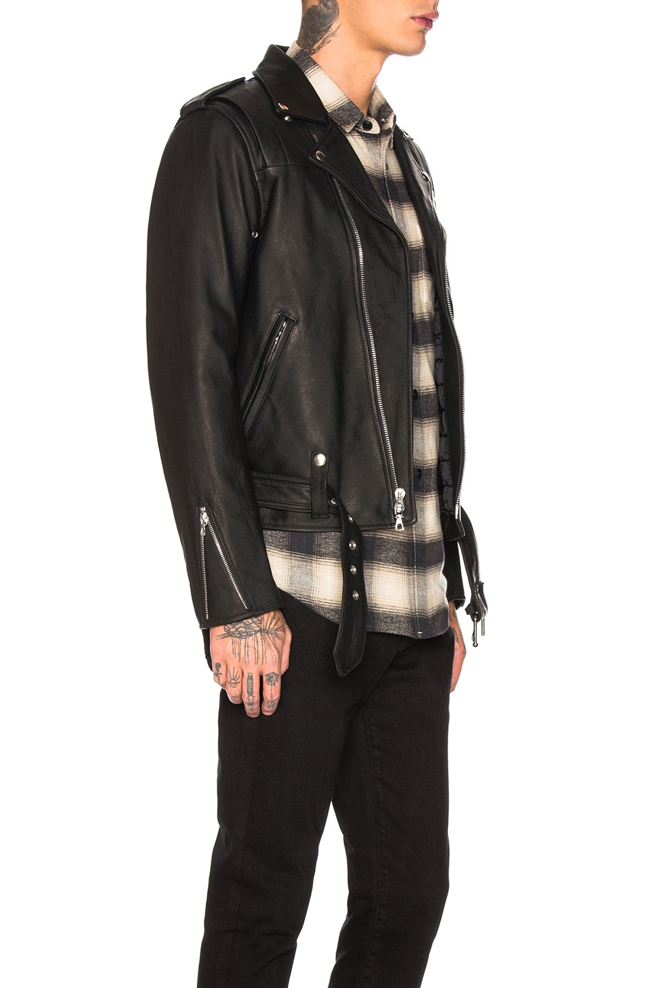 Image 3 of JOHN ELLIOTT Blackmeans Rider's Jacket in Black