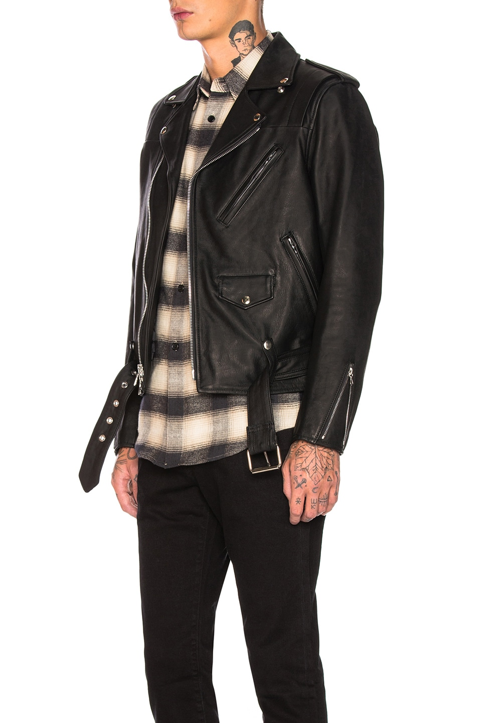 Image 4 of JOHN ELLIOTT Blackmeans Rider's Jacket in Black