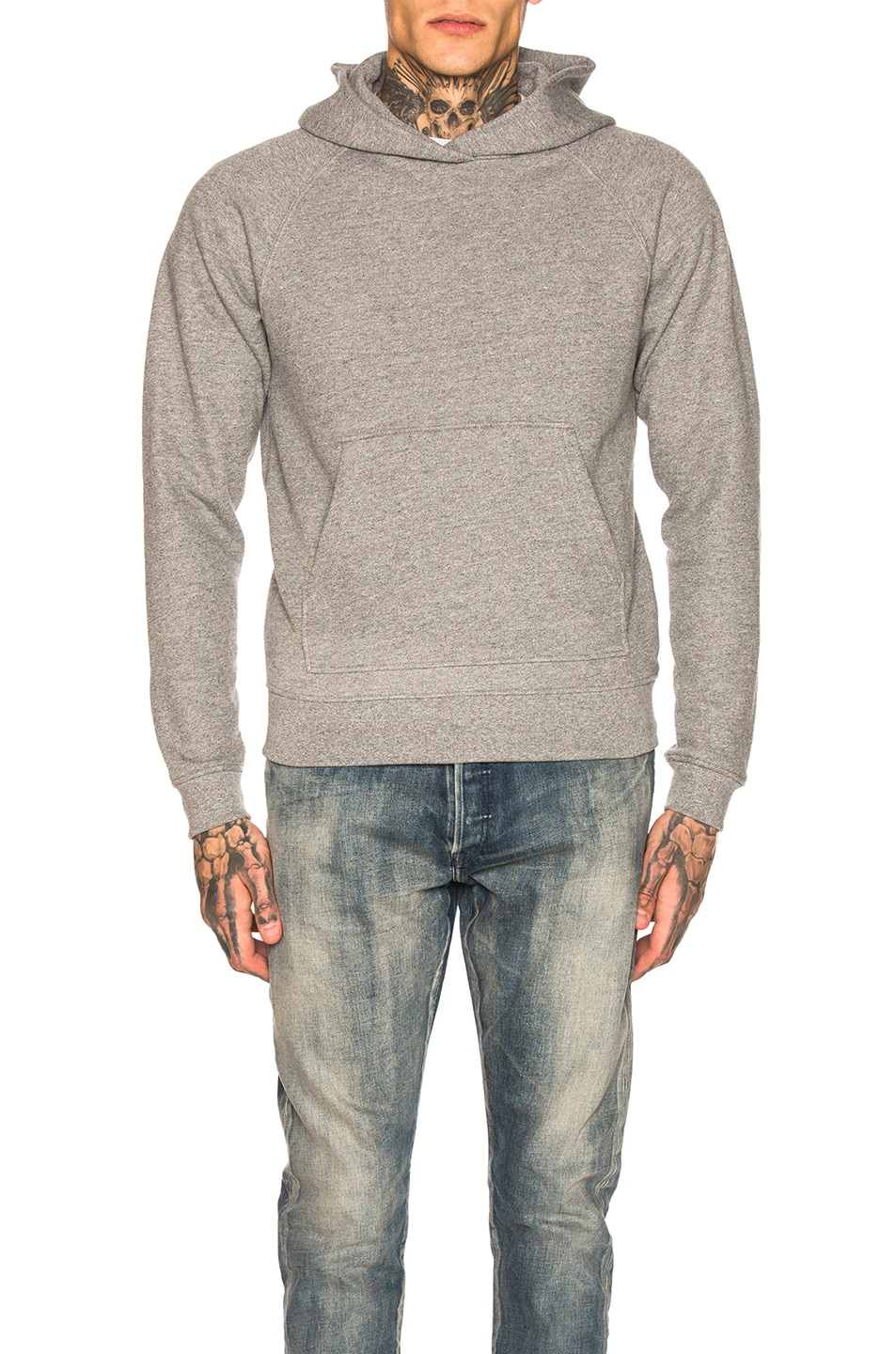 Image 1 of JOHN ELLIOTT Raglan Pullover Hoodie in Dark Grey