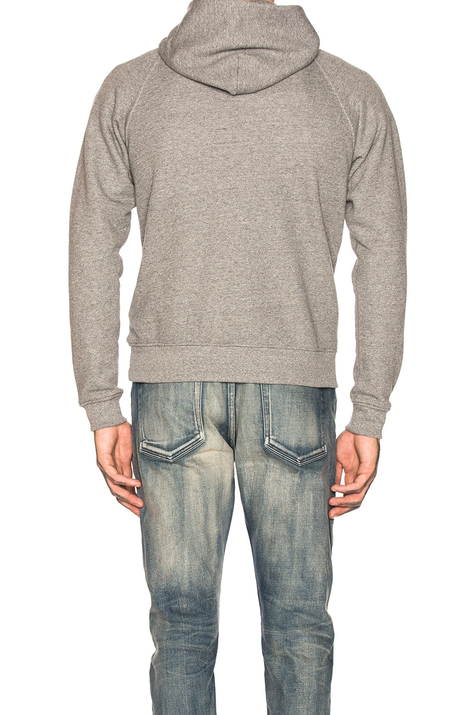 Image 3 of JOHN ELLIOTT Raglan Pullover Hoodie in Dark Grey