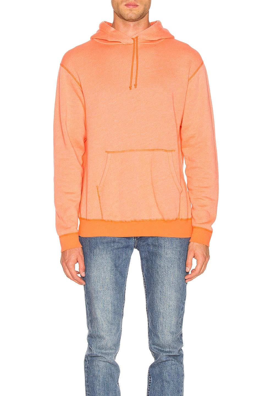 Image 1 of JOHN ELLIOTT Vintage Fleece Hoodie in Orange