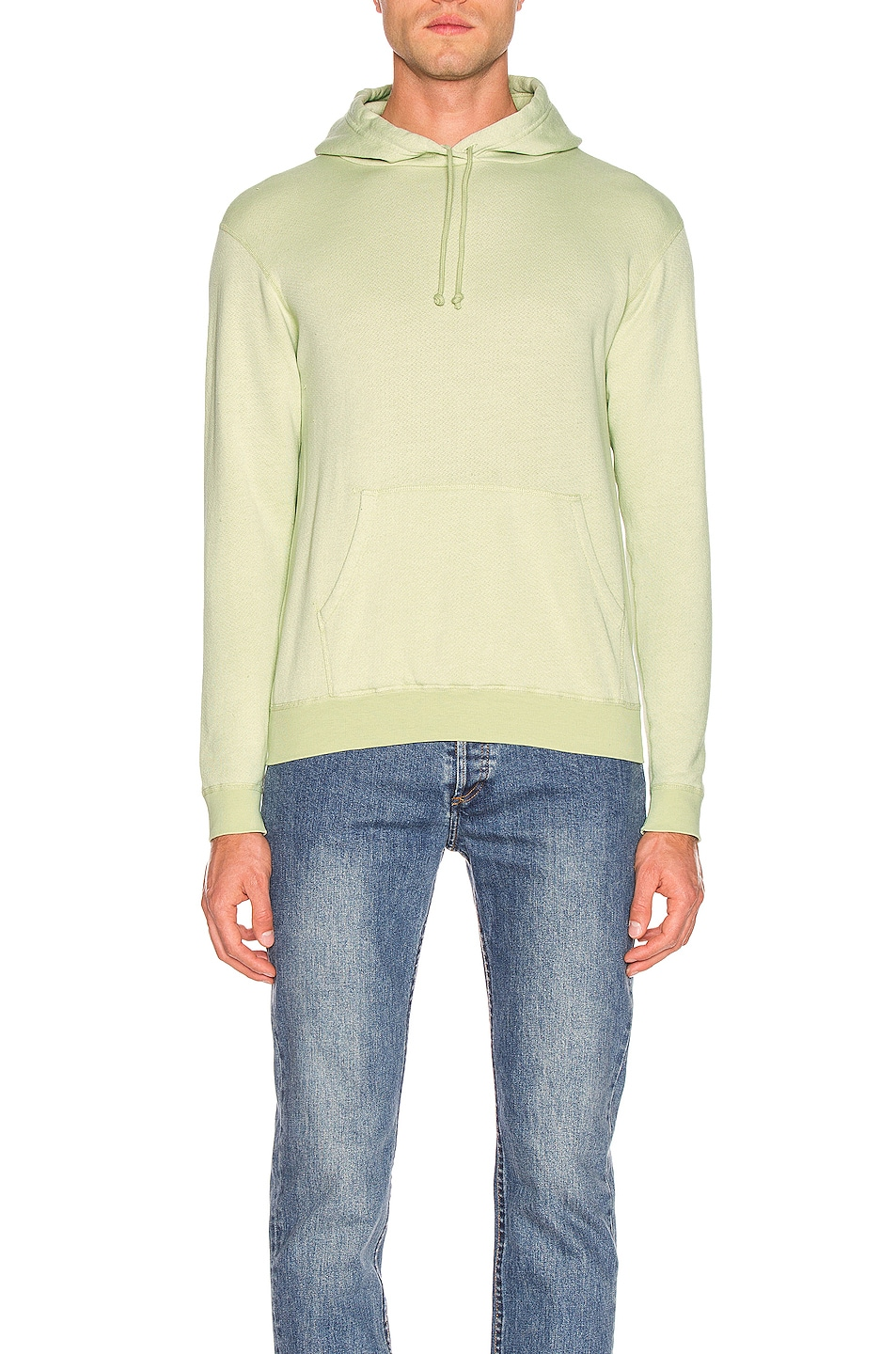 Image 1 of JOHN ELLIOTT Vintage Fleece Hoodie in Mint Green