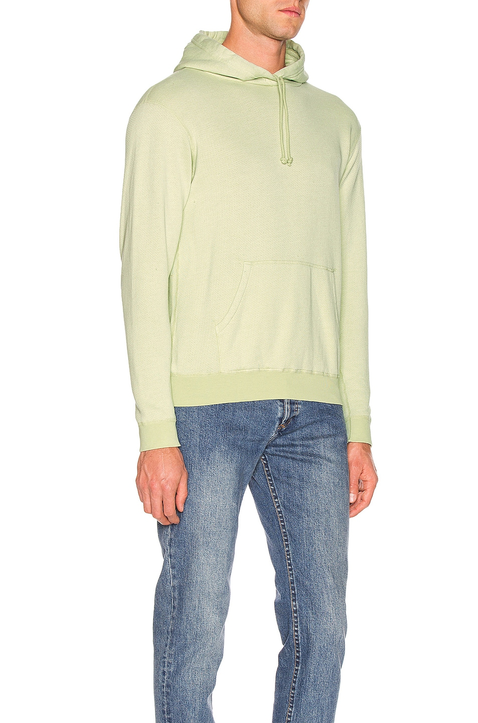 Image 2 of JOHN ELLIOTT Vintage Fleece Hoodie in Mint Green