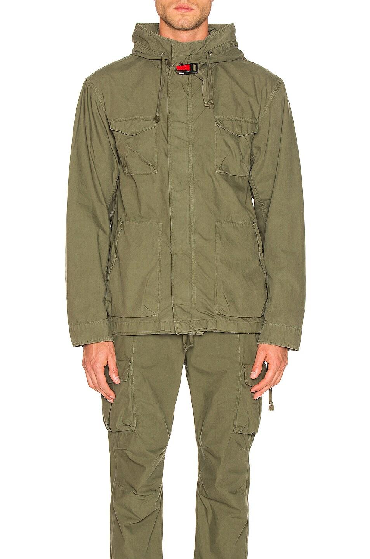 Image 2 of JOHN ELLIOTT Military Zip Field Jacket in Olive