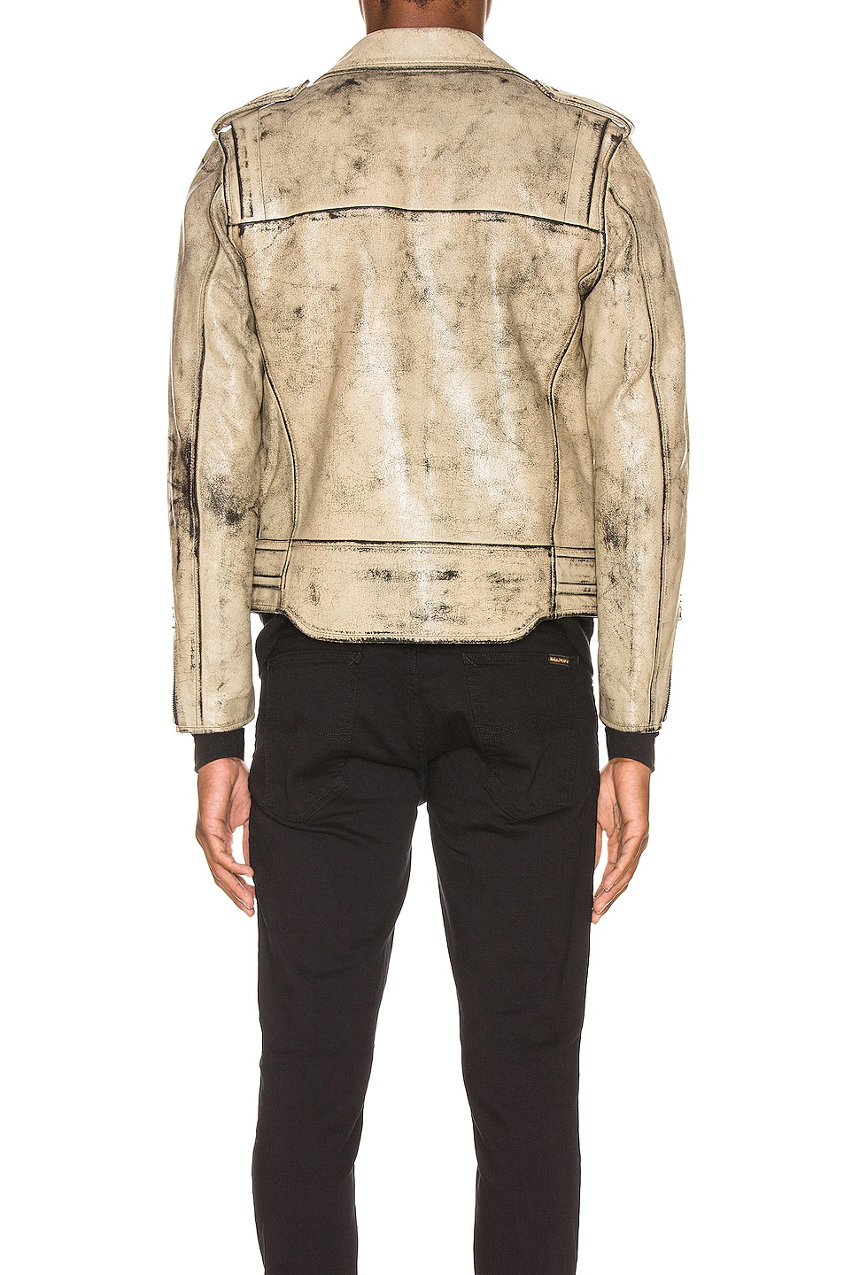 Image 5 of JOHN ELLIOTT x Blackmeans Rider's Jacket in Black & Ivory Paint