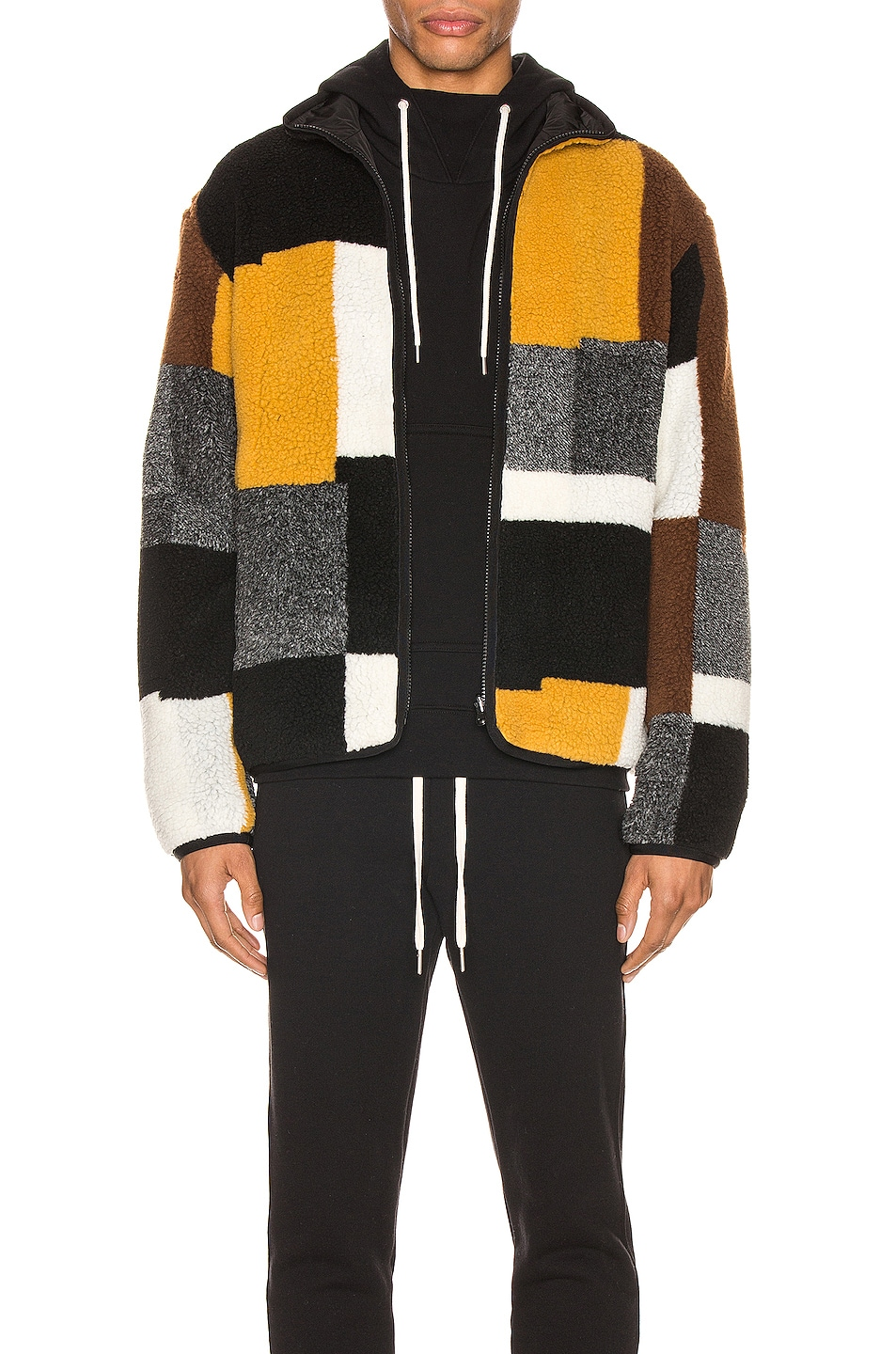 Image 1 of JOHN ELLIOTT Nashville Jacquard Reversible Full Zip Jacket in Multi
