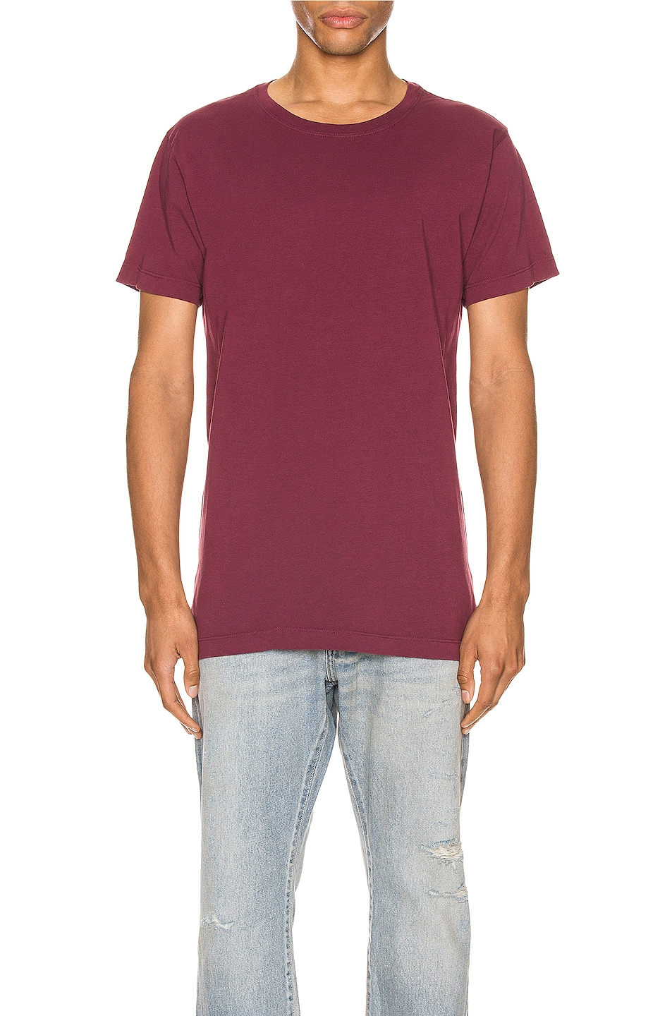 Image 1 of JOHN ELLIOTT Cotton Classic Crew in Oxblood