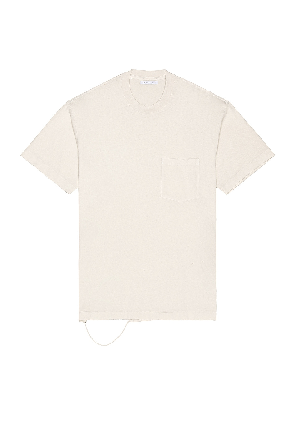 Image 1 of JOHN ELLIOTT Folsom Pocket Tee in Vintage White