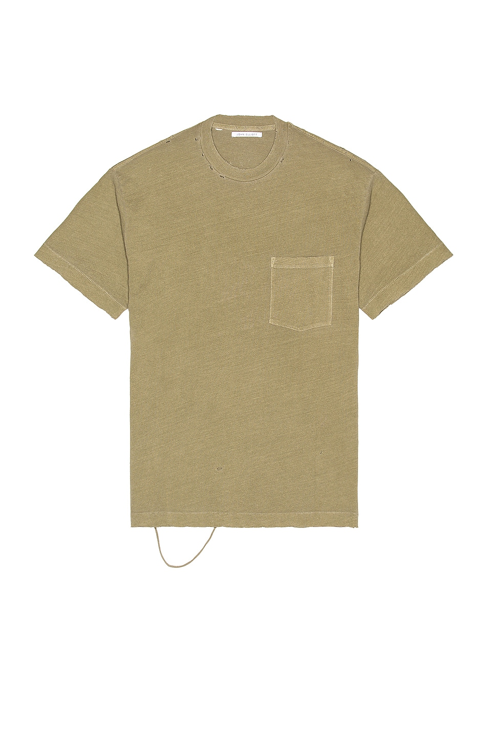 Image 1 of JOHN ELLIOTT Folsom Pocket Tee in Vintage Olive