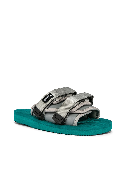 Image 1 of JOHN ELLIOTT x Suicoke Sandal in Teal & Silver