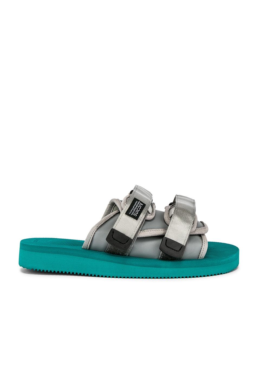 Image 2 of JOHN ELLIOTT x Suicoke Sandal in Teal & Silver