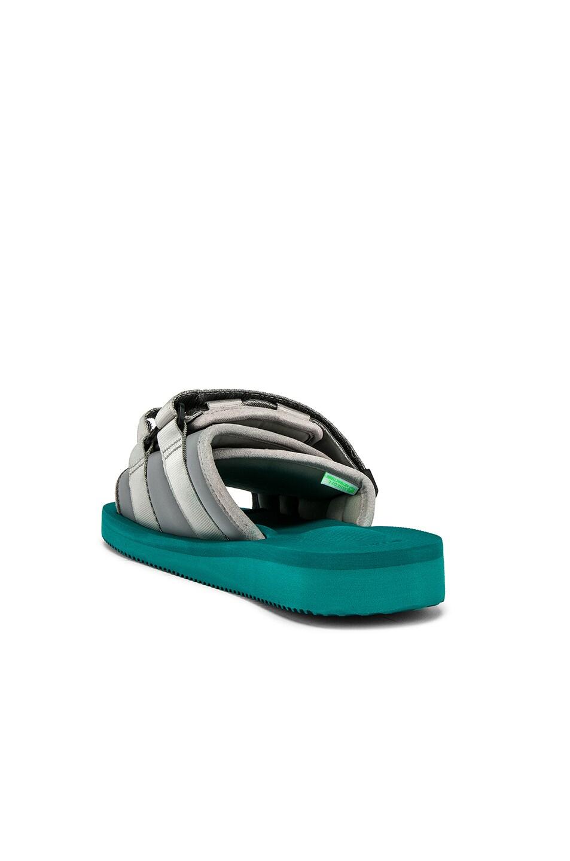Image 3 of JOHN ELLIOTT x Suicoke Sandal in Teal & Silver