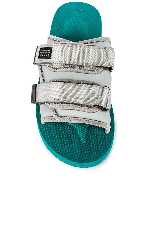 Image 4 of JOHN ELLIOTT x Suicoke Sandal in Teal & Silver