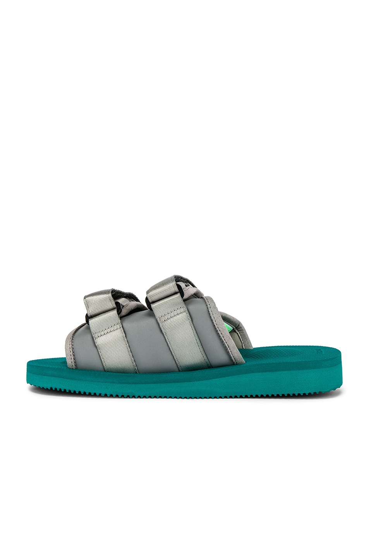 Image 5 of JOHN ELLIOTT x Suicoke Sandal in Teal & Silver