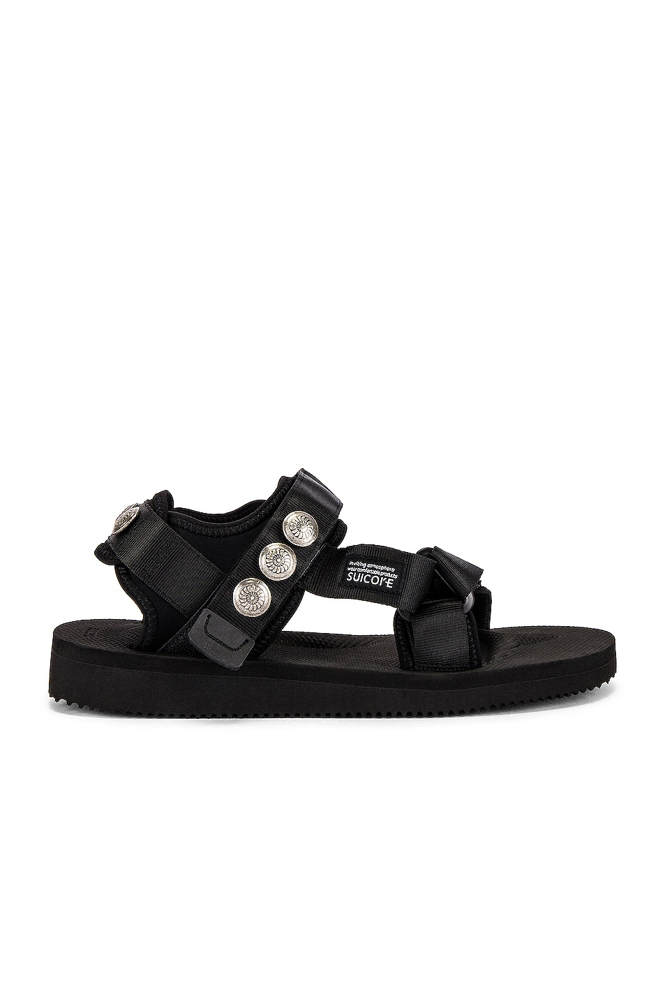 Image 2 of JOHN ELLIOTT x Blackmeans x Suicoke Lotus Sandal in Black