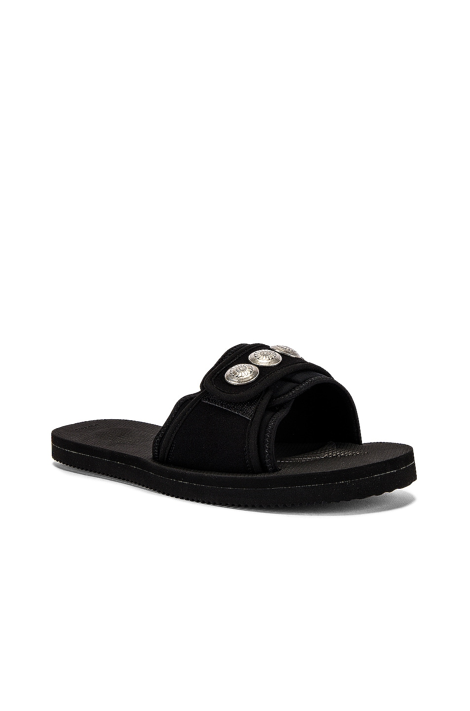 Image 1 of JOHN ELLIOTT x Blackmeans x Suicoke Lotus Slide in Black
