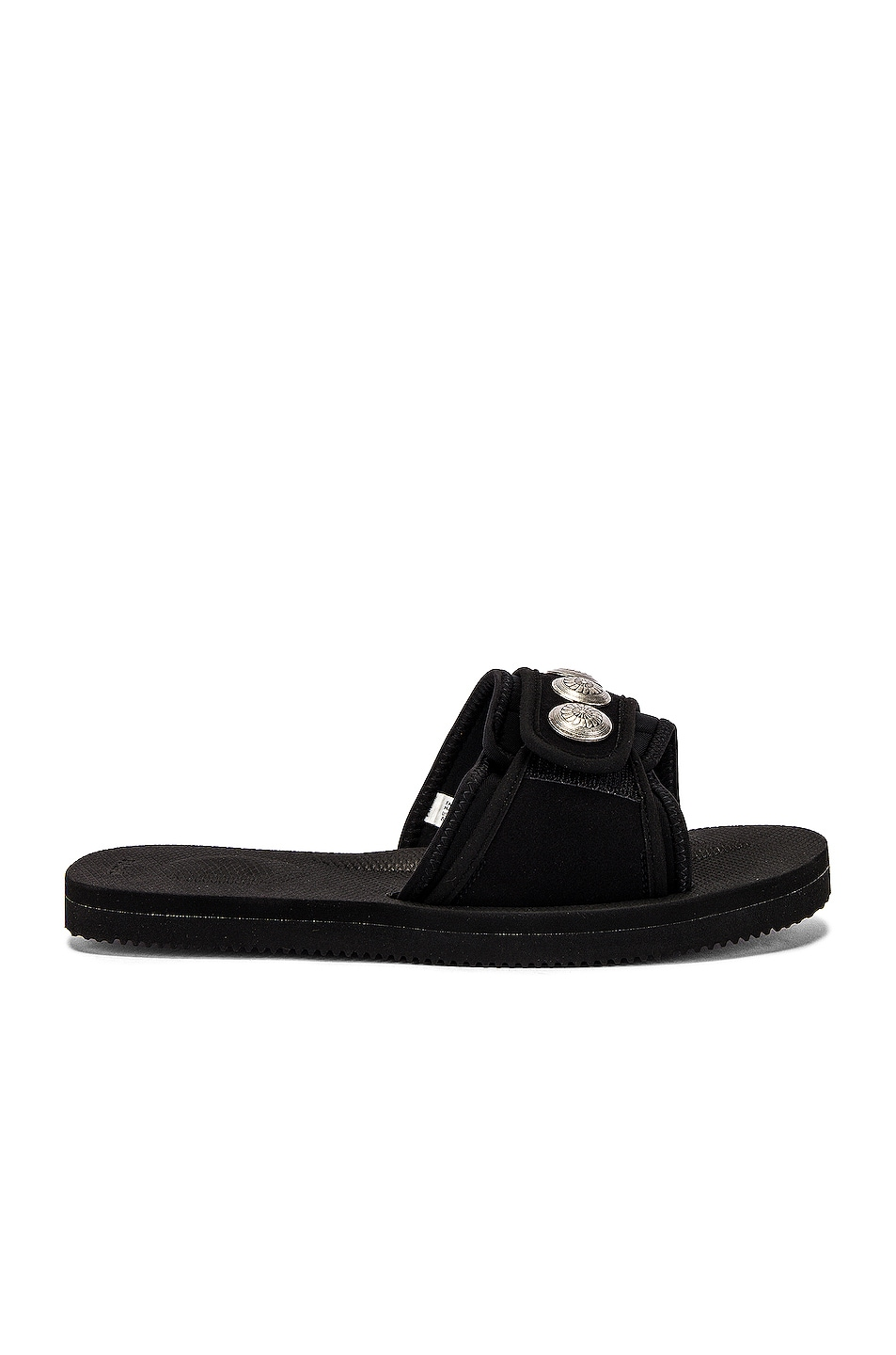 Image 2 of JOHN ELLIOTT x Blackmeans x Suicoke Lotus Slide in Black