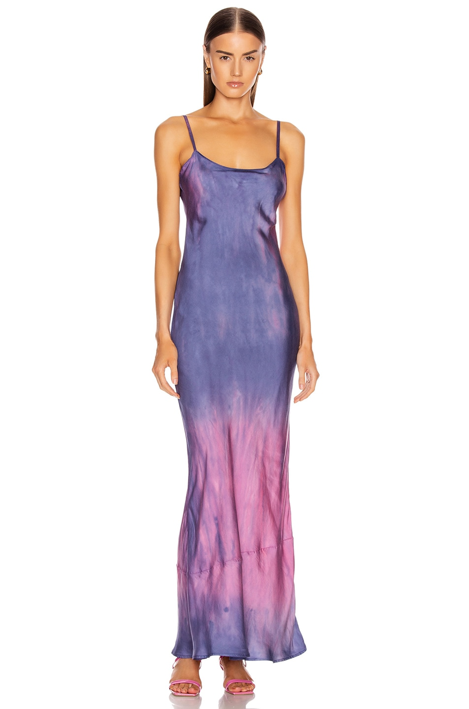 Image 1 of JOHN ELLIOTT Myrrh Slip Dress in Navy & Highlighter