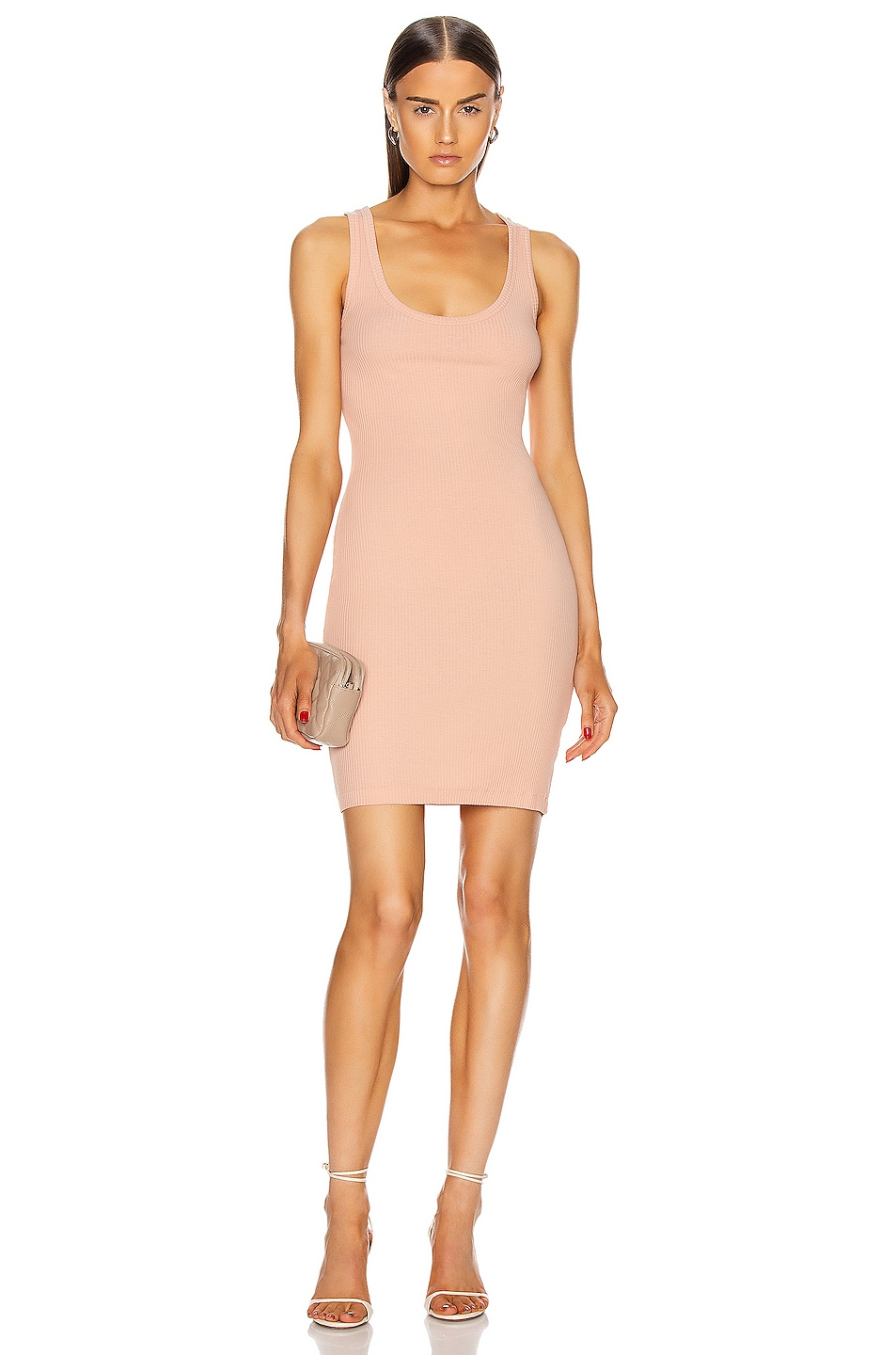 Image 1 of JOHN ELLIOTT Rib Dress in Peach