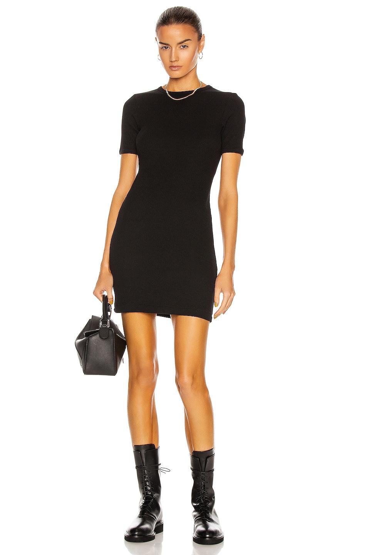Image 1 of JOHN ELLIOTT Rib Mini Dress in Black