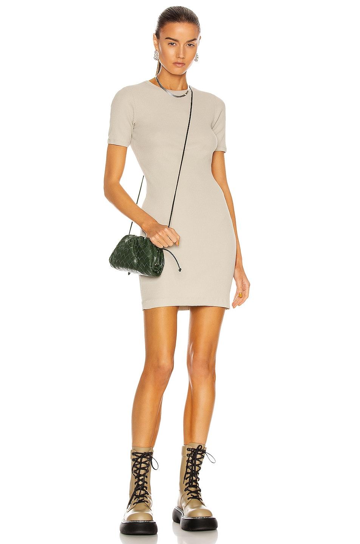 Image 1 of JOHN ELLIOTT Rib Mini Dress in Oyster