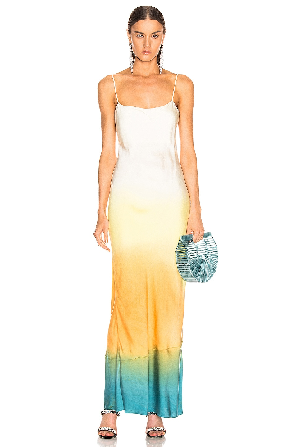 Image 1 of JOHN ELLIOTT for FWRD Myrrh Slip Dress in Gradient