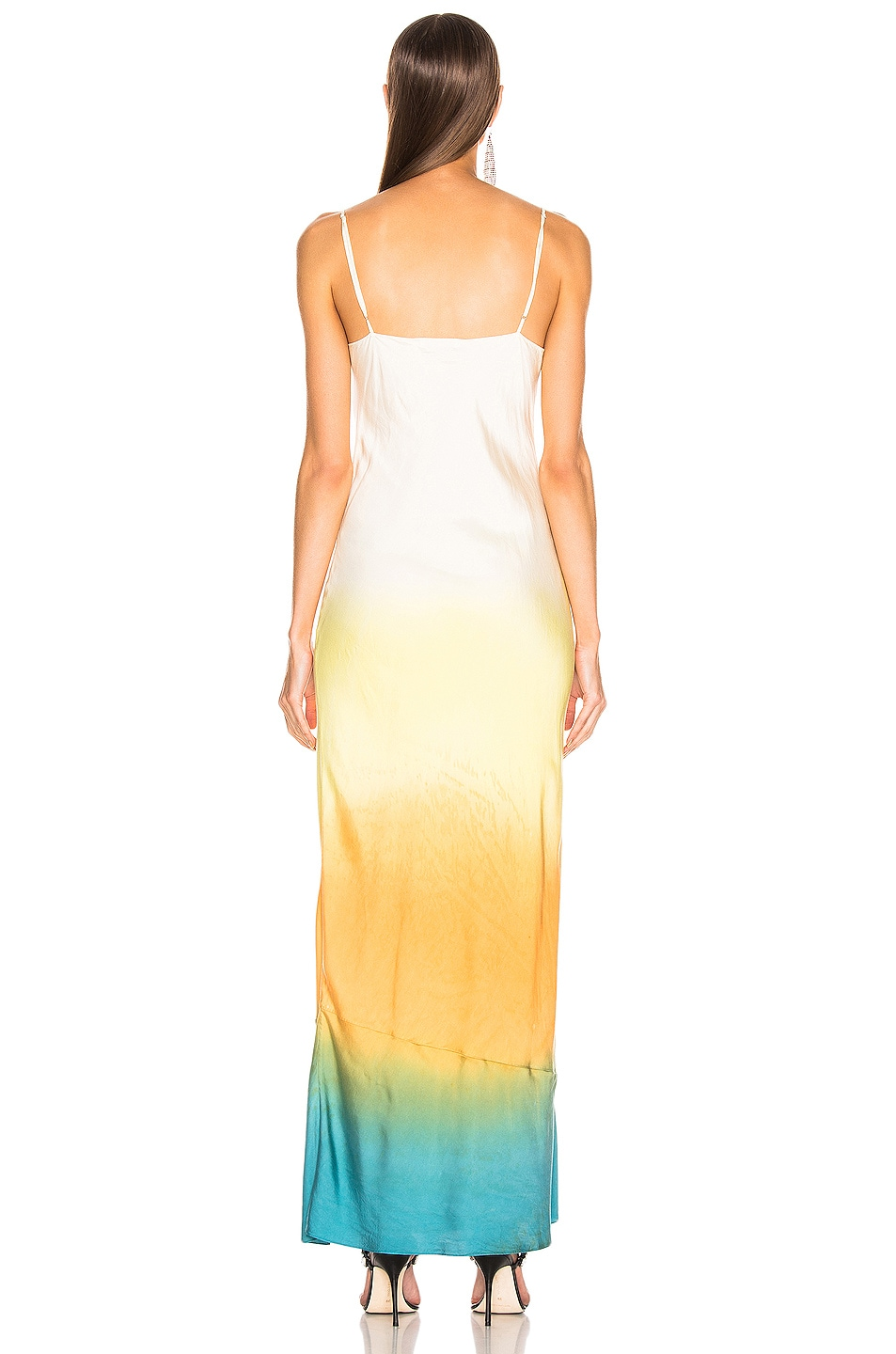 Image 3 of JOHN ELLIOTT for FWRD Myrrh Slip Dress in Gradient