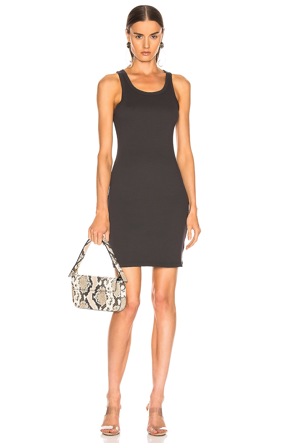 Image 1 of JOHN ELLIOTT Alma Rib Dress in Charcoal