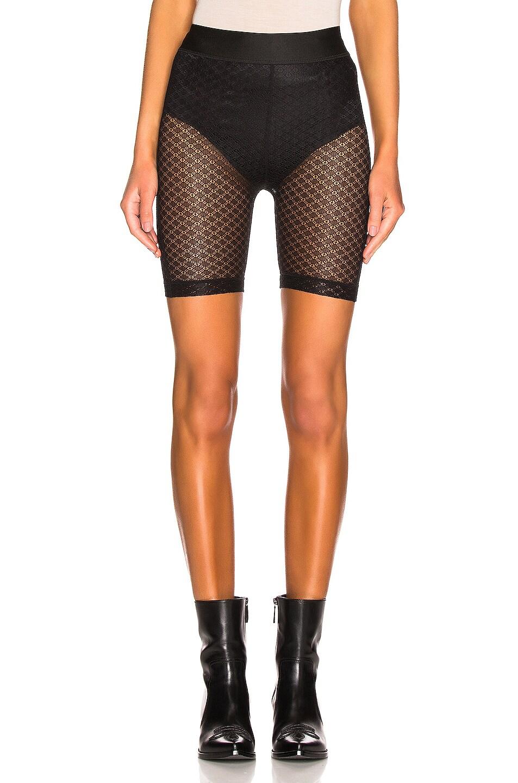 Image 1 of JOHN ELLIOTT Laine Biker Short in Black Lace