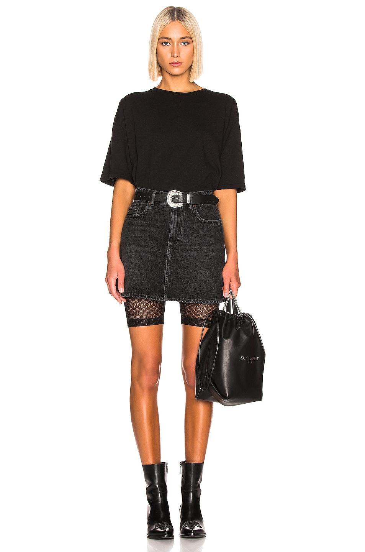 Image 4 of JOHN ELLIOTT Laine Biker Short in Black Lace