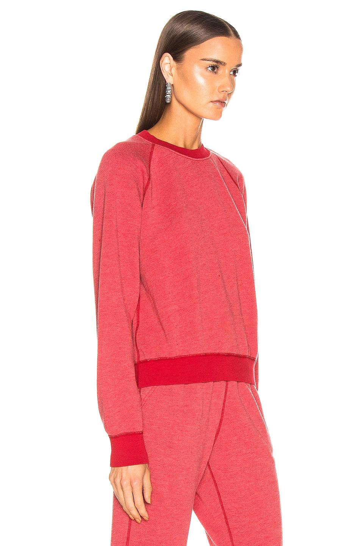 Image 2 of JOHN ELLIOTT Vintage Fleece Crew Sweatshirt in Cherry