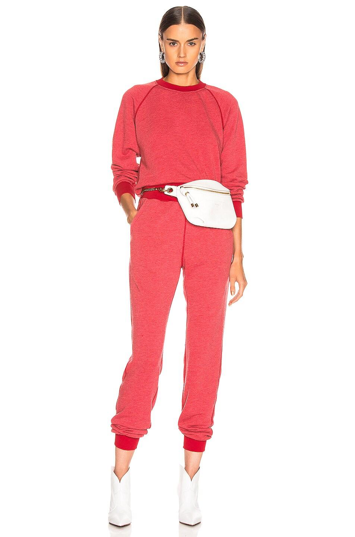 Image 4 of JOHN ELLIOTT Vintage Fleece Crew Sweatshirt in Cherry
