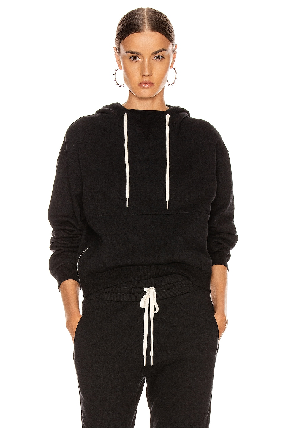 Image 1 of JOHN ELLIOTT Hooded Villain Sweatshirt in Black