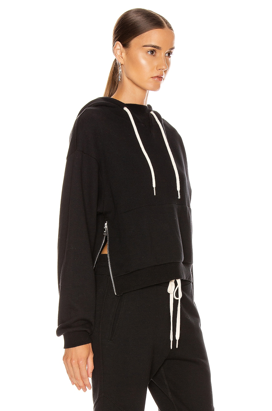 Image 2 of JOHN ELLIOTT Hooded Villain Sweatshirt in Black