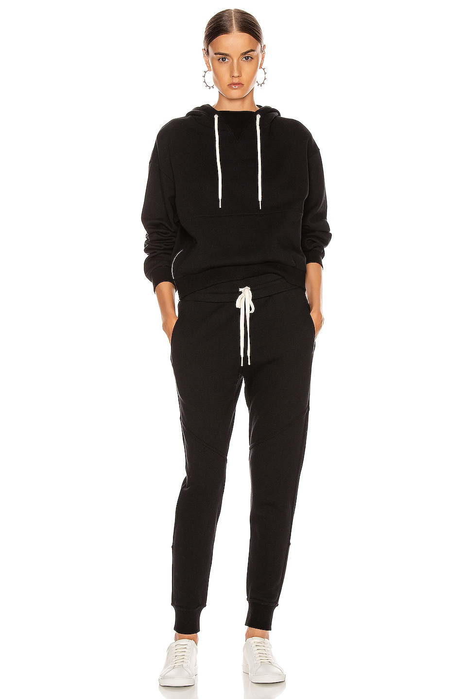Image 4 of JOHN ELLIOTT Hooded Villain Sweatshirt in Black