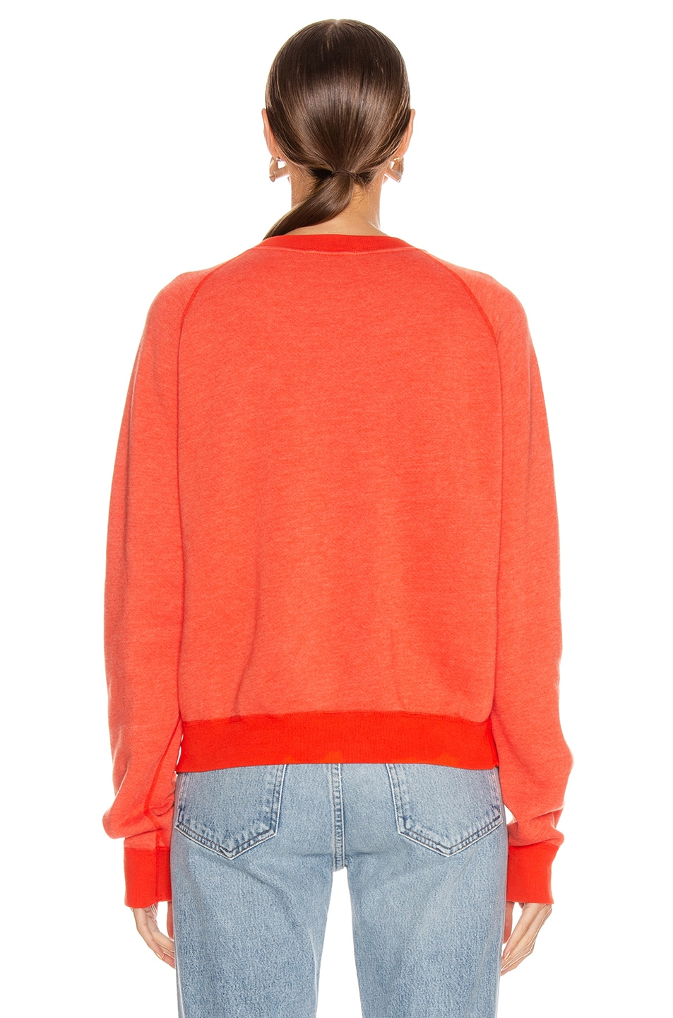 Image 3 of JOHN ELLIOTT Vintage Fleece Crew Sweater in Cardinal