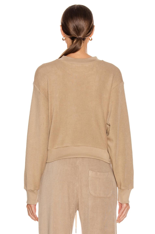 Image 3 of JOHN ELLIOTT Corduroy Cropped Sweatshirt in Linen