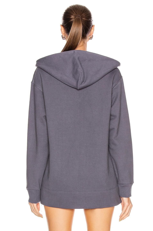 Image 4 of JOHN ELLIOTT Zip Hooded Villain Sweatshirt in Dusty Navy
