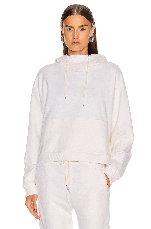 Image 1 of JOHN ELLIOTT Hooded Villain Sweatshirt in Salt