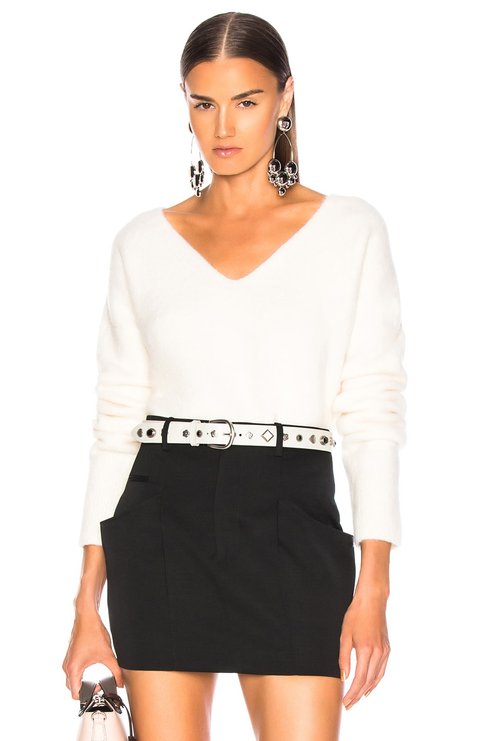 Image 1 of JOHN ELLIOTT Cobalt Alpaca Sweater in Ivory