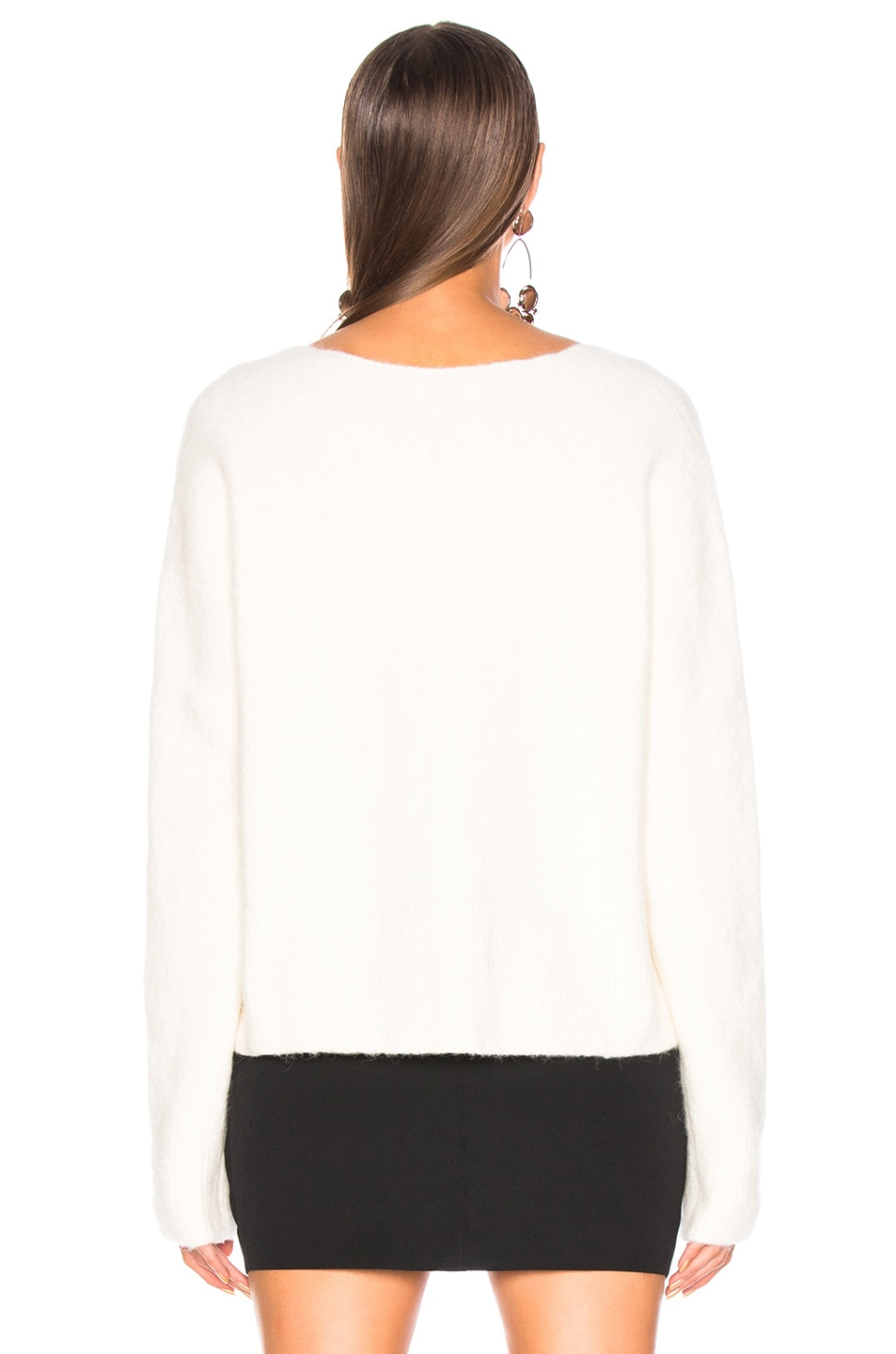 Image 3 of JOHN ELLIOTT Cobalt Alpaca Sweater in Ivory